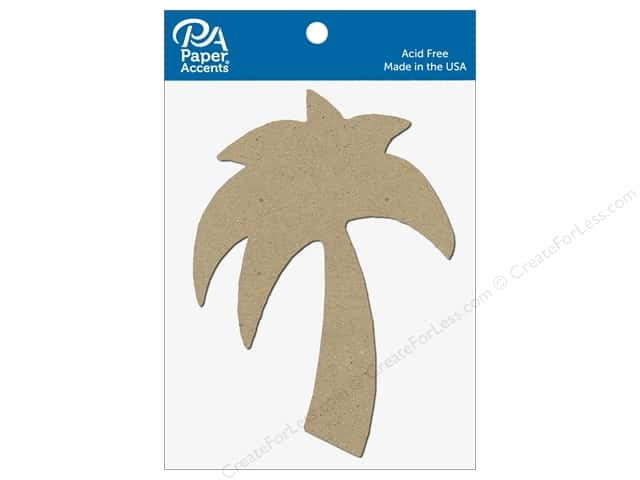 Paper Accents Chipboard Shape Palm Tree 8 pc. Natural