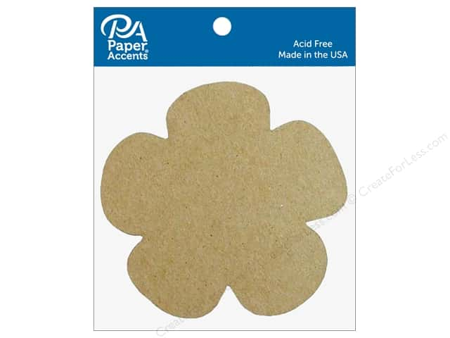 Paper Accents Chipboard Shape Flower 8 pc. Natural
