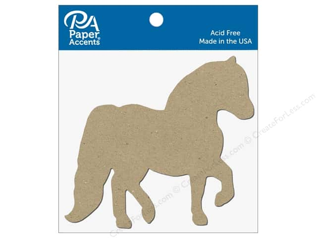 Paper Accents Chipboard Shape Horse 8 pc. Natural