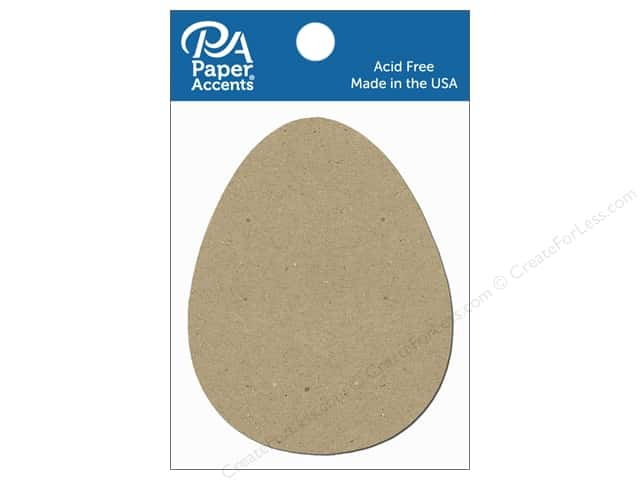 Paper Accents Chipboard Shape Egg 8 pc. Natural