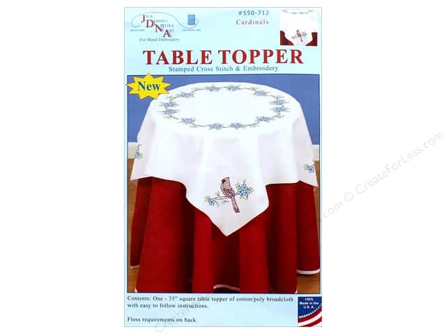 Jack Dempsey Table Topper White 35 in. Cardinals