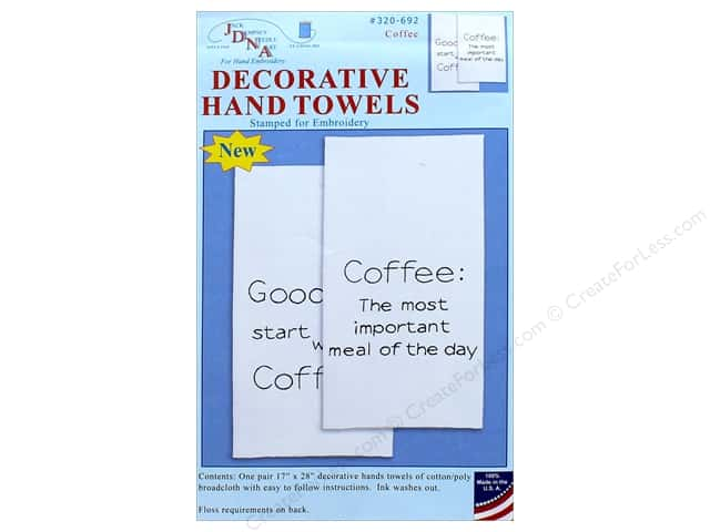 Jack Dempsey Decorative Hand Towel Coffee 2pc