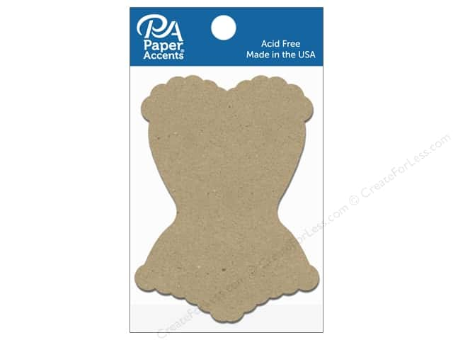 Paper Accents Chipboard Shape Corset 8 pc. Natural