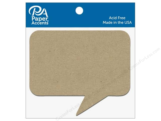 Paper Accents Chipboard Shape Caption 8 pc. Natural