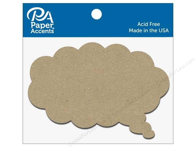 Paper Accents Chipboard Shape Thought Bubble 8 pc. Natural