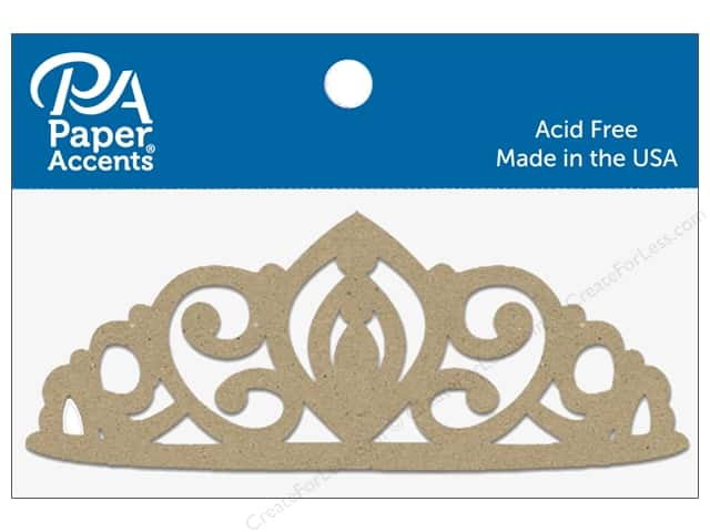 Paper Accents Chipboard Shape Tiara 8 pc. Natural