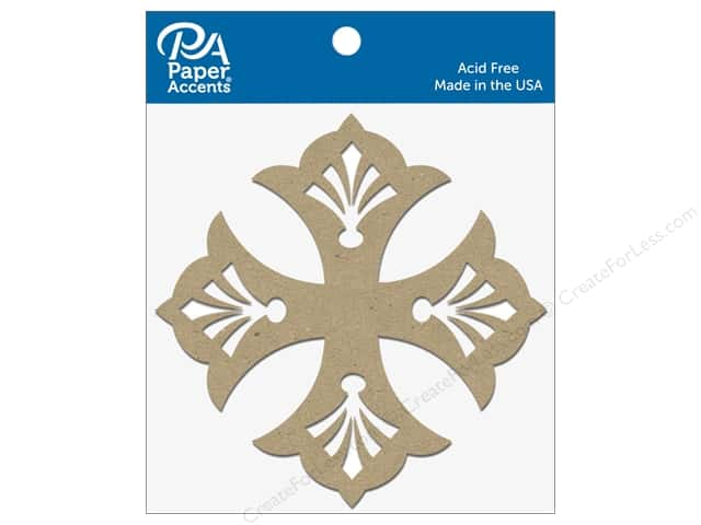 Paper Accents Chipboard Shape Quatrefoil 8 pc. Natural