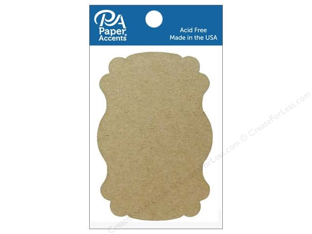 Paper Accents Chipboard Shape Marquee #1 8 pc. Natural