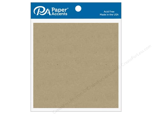 Paper Accents Chipboard Shape Square 5 pc. Natural