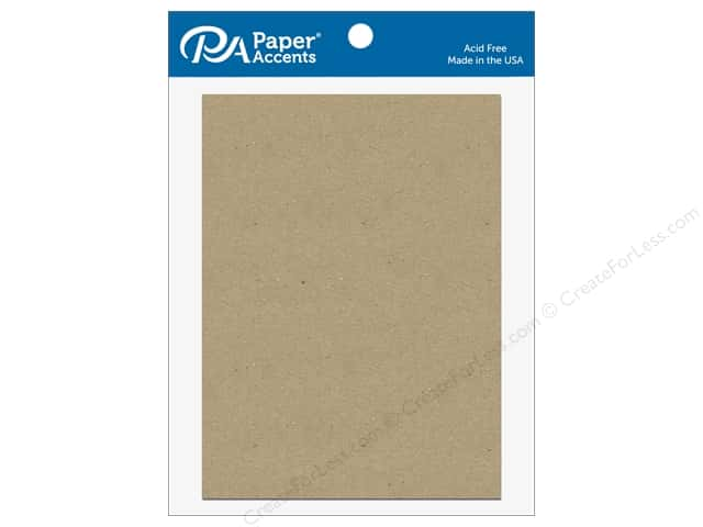 Paper Accents Chipboard Shape Rectangle 5 pc. Natural