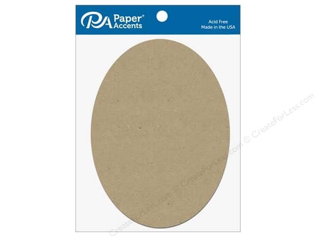 Paper Accents Chipboard Shape Oval 5 pc. Natural