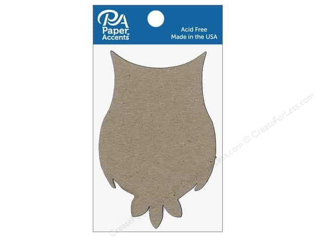 Paper Accents Chipboard Shape Owl 8 pc. Natural