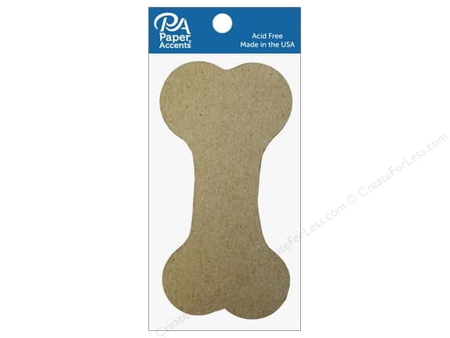 Paper Accents Chipboard Shape Dog Bone 8 pc. Natural