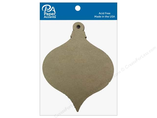 Paper Accents Chipboard Shape Teardrop Ornament Short 8 pc. Natural