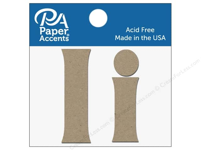 "Paper Accents Chipboard Shape Letters ""Ii"" 2 in. 2 pc. Natural"