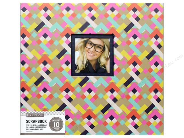 K & Company 12 x 12 in. Scrapbook Window Album Bright Geometric