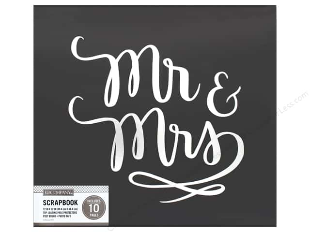 K & Company 12 x 12 in. Scrapbook Album Mr &  Mrs Wedding