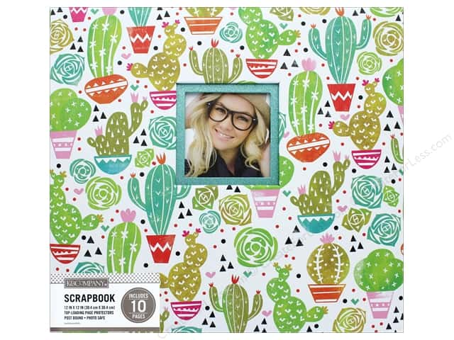 K & Company 12 x 12 in. Scrapbook Window Album Block Print Cacti
