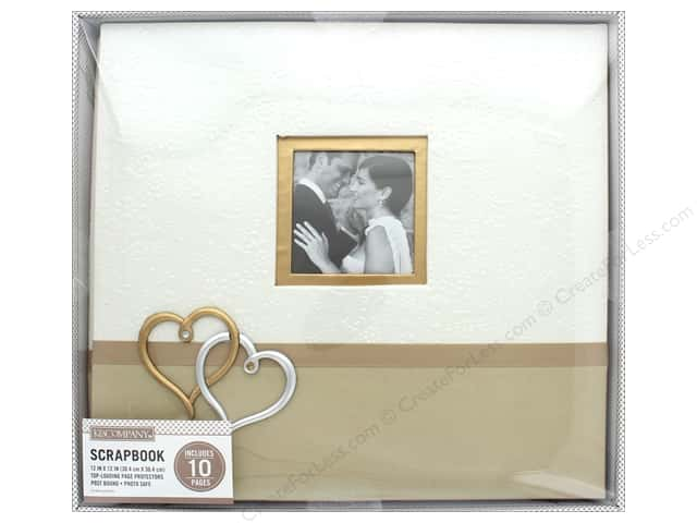 K & Company 12 x 12 in. Scrapbook Window Album Wedding Hearts