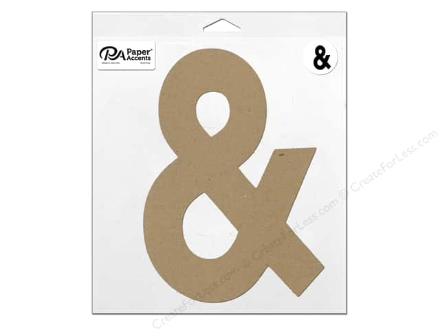 "Paper Accents Chipboard Shape Punctuation ""&"" 11 in. 1 pc. Natural"
