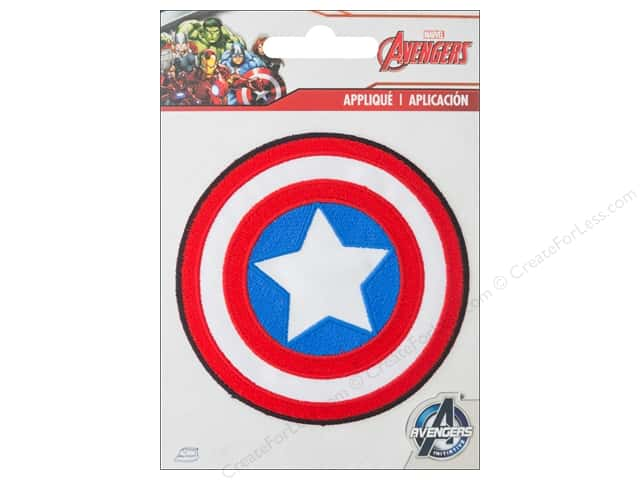 Simplicity Applique Marvel Iron On Small Captain America Logo