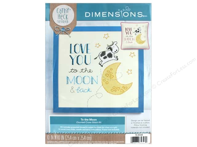 Dimensions Cross Stitch Kit 10 in. x 10 in. Cathy Heck To The Moon