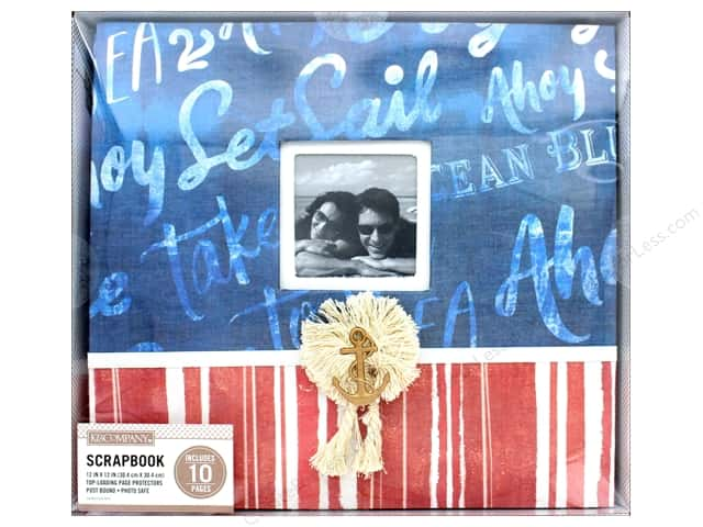 K & Company 12 x 12 in. Scrapbook Window Album Nautical Script