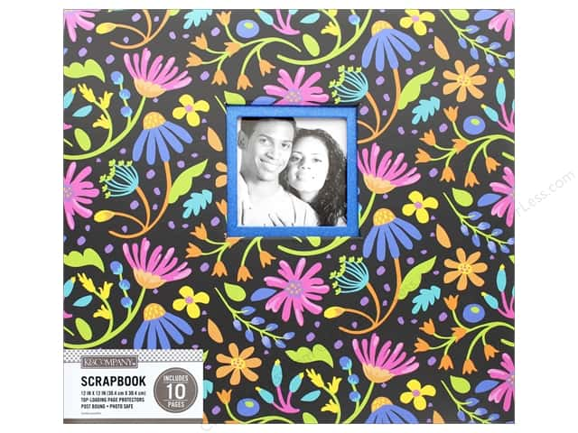K & Company 12 x 12 in. Scrapbook Window Album Black Floral