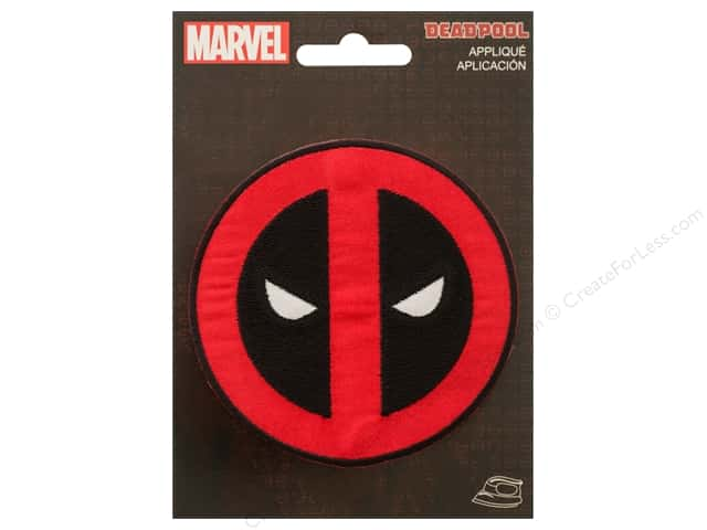 Simplicity Applique Marvel Iron On Small Deadpool Logo