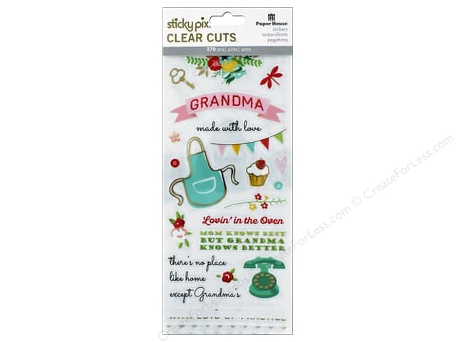Paper House Sticker Clear Cuts Grandma