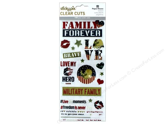 Paper House Sticker Clear Cuts Home Front Girl Family