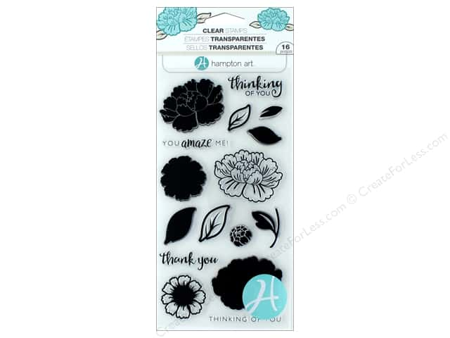 Hampton Art Stamp Clear Layer Flower Amaze