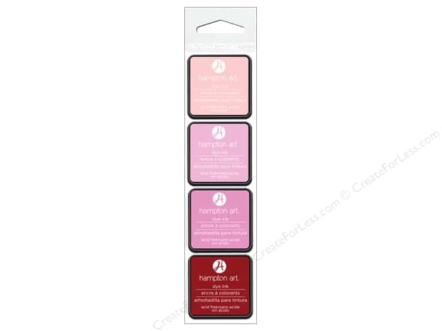 Hampton Art Ink Pad Passion Pink 4pc