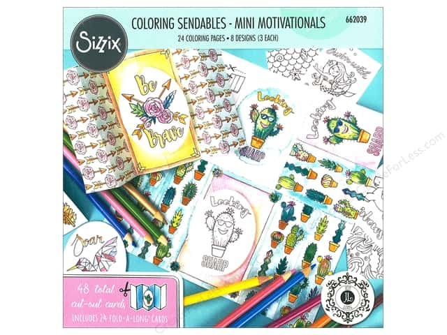 Sizzix Accessories Jen Long Coloring Sendables Mini Motivations