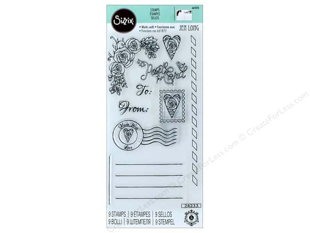 Sizzix Stamp Jen Long Postcard In Bloom