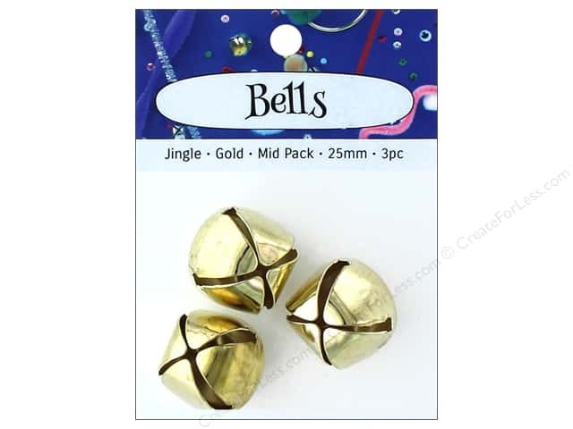 PA Essentials Jingle Bells 1 in. 3 pc. Gold