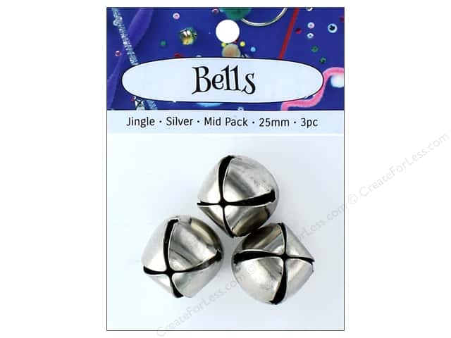 PA Essentials Jingle Bells 1 in. 3 pc. Silver