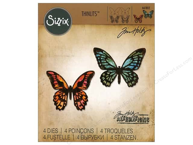 Sizzix Dies Tim Holtz Thinlits Mini Detail Butterflies