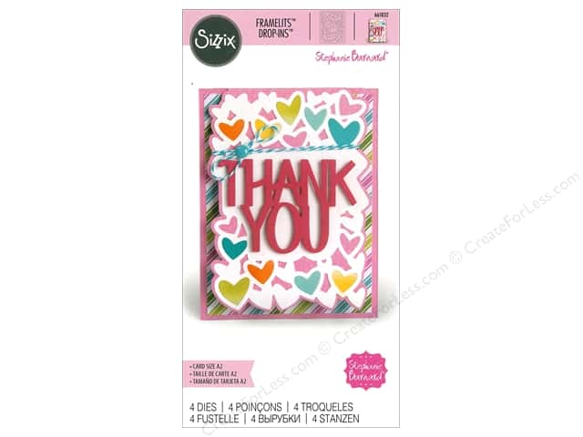 Sizzix Dies Stephanie Barnard Framelits Card Drop In Thank You