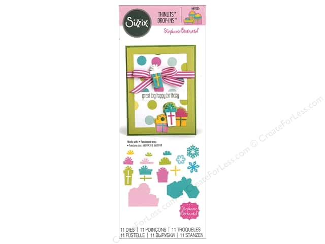 Sizzix Dies Stephanie Barnard Thinlits Drop-ins Gifts