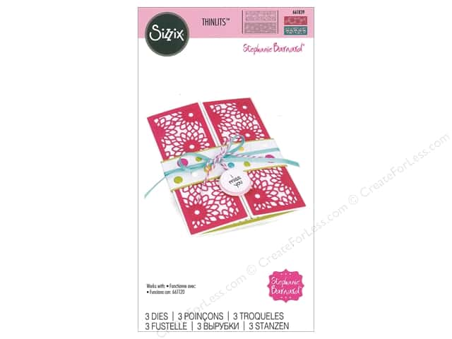Sizzix Dies Stephanie Barnard Thinlits Half Card Panels