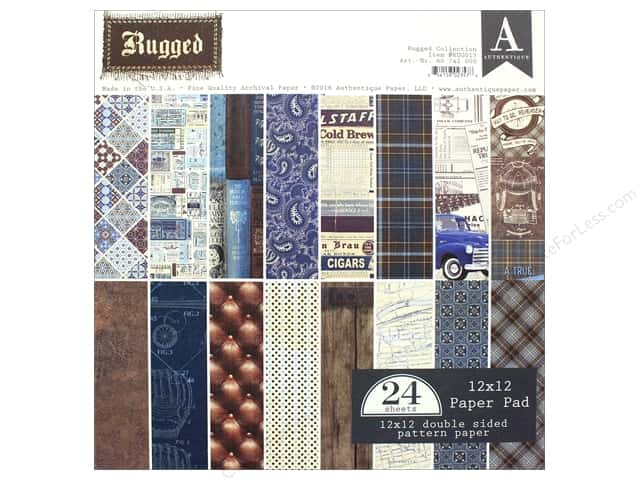 "Authentique Collection Rugged Paper Pad 12""x 12"""