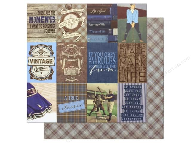 "Authentique Collection Rugged Paper 12""x 12"" Eight (25 pieces)"
