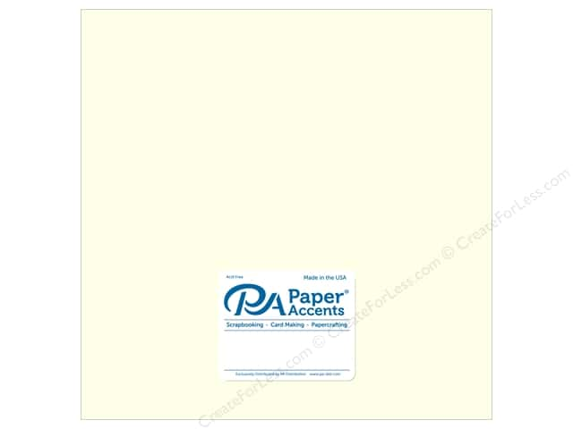 Paper Accents Pearlized Paper 12 x 12 in. #884 Cream 5 pc.