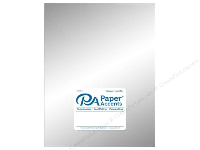 Paper Accents Cardstock 8 1/2 x 11 in. #858C Pearlized Ice Silver 5 pc.