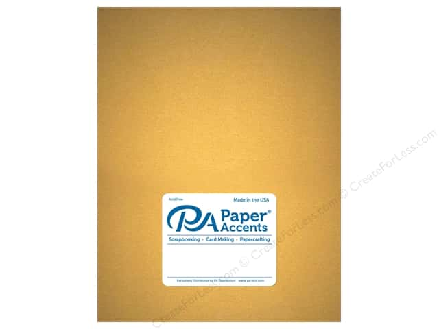 Paper Accents Pearlized Paper 8 1/2 x 11 in. #877 Gold 5 pc.