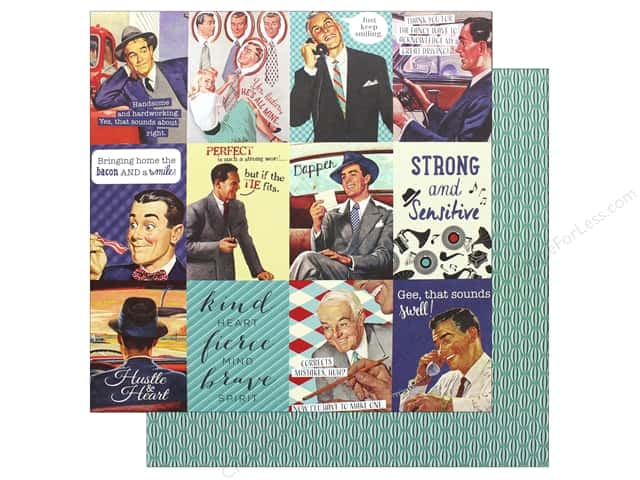 "Authentique Collection Dapper Paper 12""x 12"" Eight (25 pieces)"