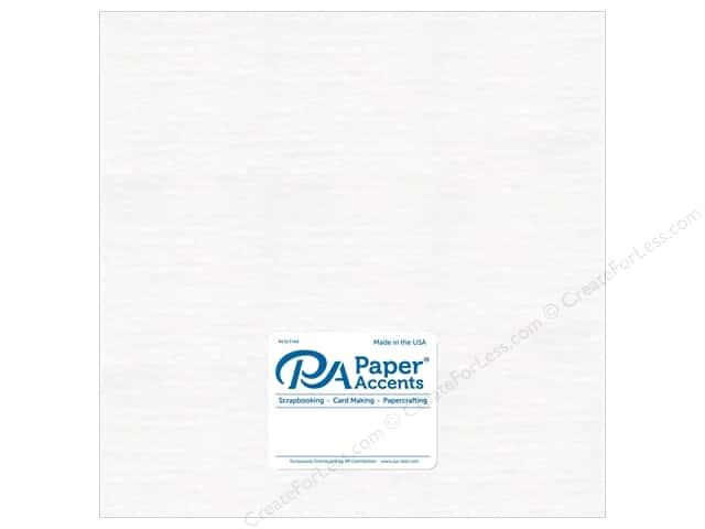 "Paper Accents Chipboard 12""x 12"" 1X Heavy 46pt White 5pc"