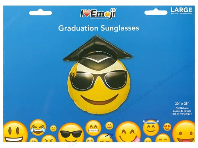 Everything Emoji Balloon Graduation Sunglasses