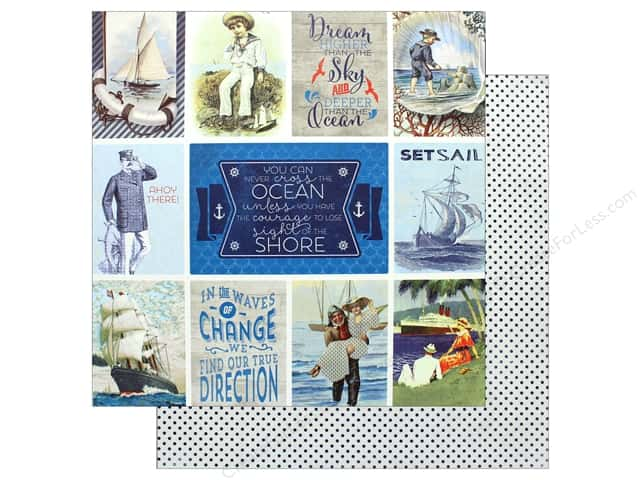 "Authentique Collection Seafarer Paper 12""x 12"" Eleven (25 pieces)"